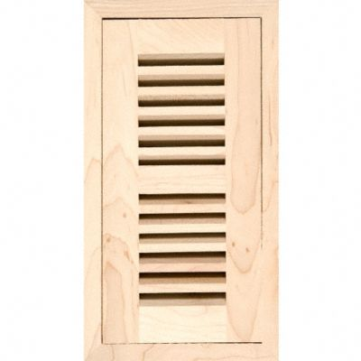 "4"" x 10"" Maple Grill Flush w/Frame"